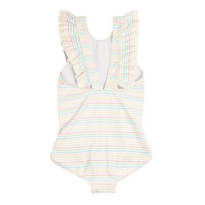 girls antique rainbow ruffle one piece