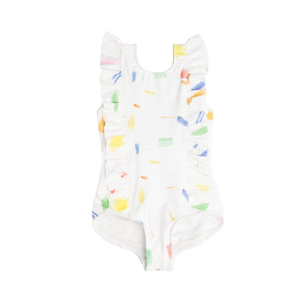 Girl's Doodle Ruffle One Piece