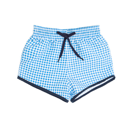 boys blue gingham boardie