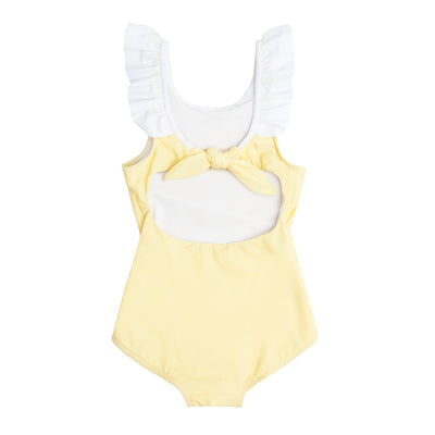 girl's sunshine ruffle collar one piece