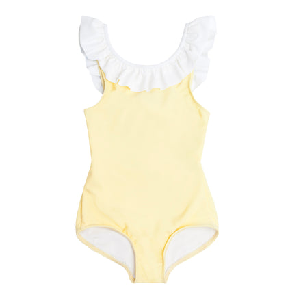 girls sunshine ruffle collar one piece