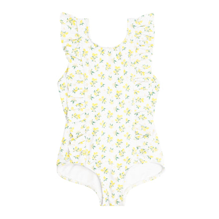 girl's lemon drop ruffle one piece