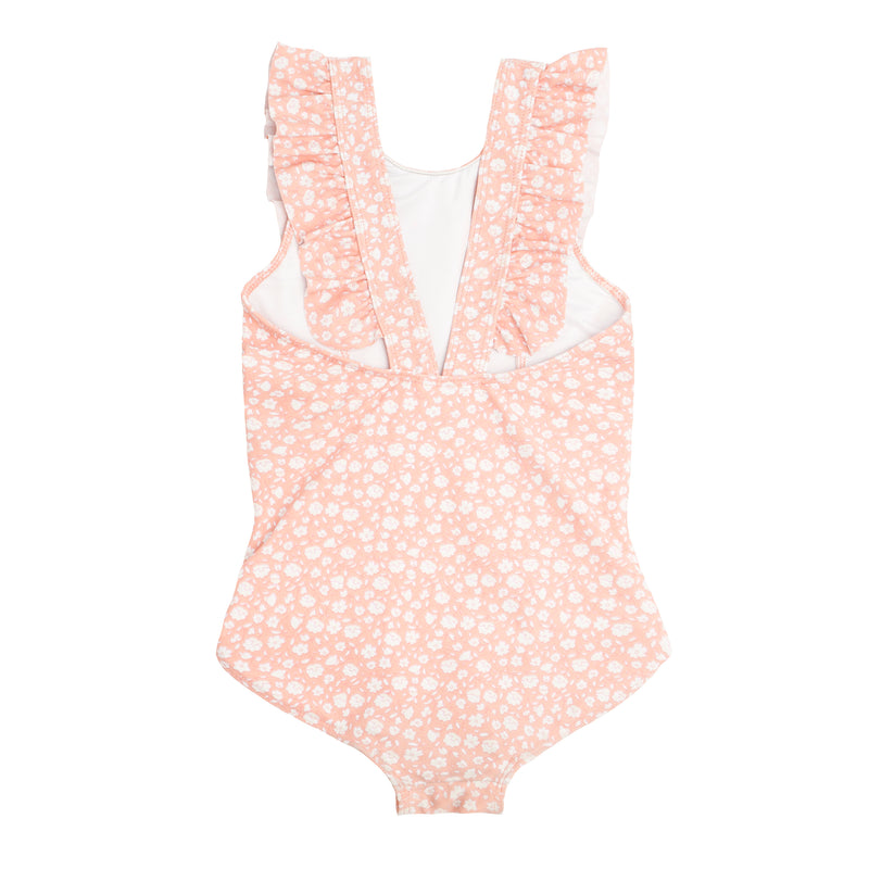 girls melone floral ruffle one piece