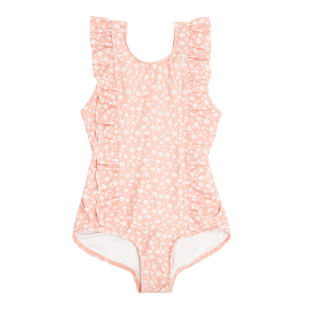 girl's melone floral ruffle one piece