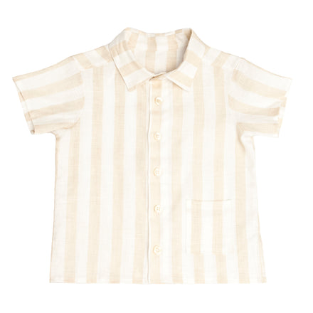 hazelnut stripe sun shirt