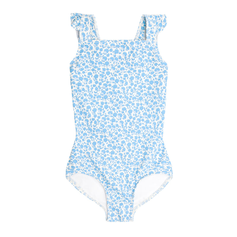 girls italian floral crossover one piece