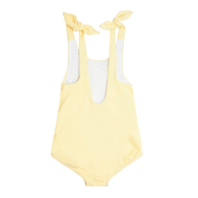 girl's sunshine tie knot one piece