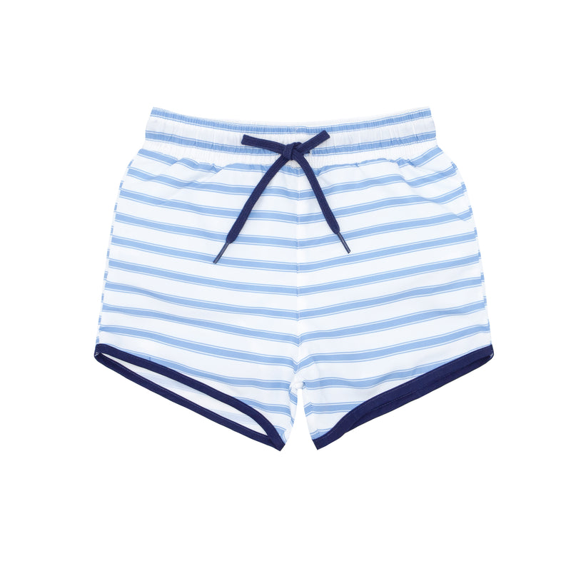 boys boca blue stripe boardie