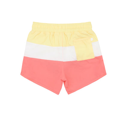 boys coral sands tricolor block boardie