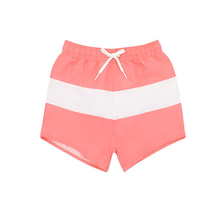 boys coral colorblock boardie
