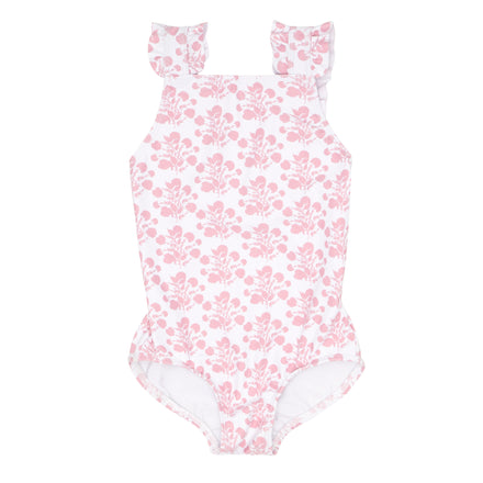 girls shell blossom ruffle strap one piece