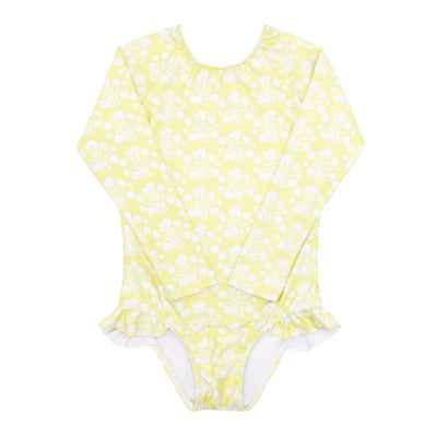 girls citron blossom rashguard one piece