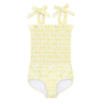 girls citron blossom smocked one piece