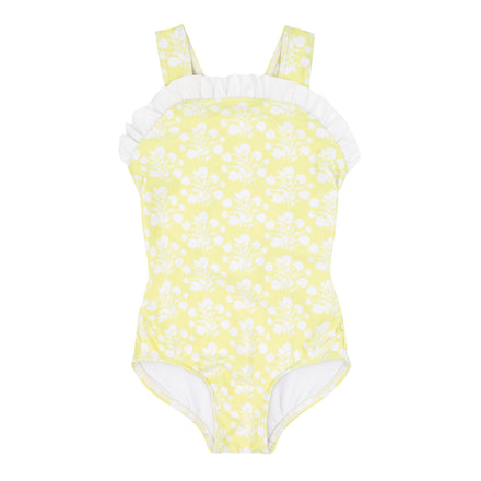 girls citron blossom bib crossover one piece