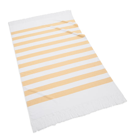 sardinia beach towel, yellow