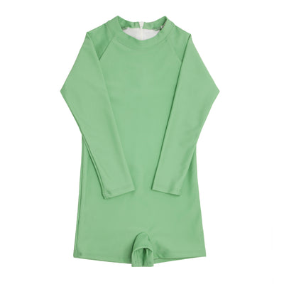 boys spring green rashguard one piece