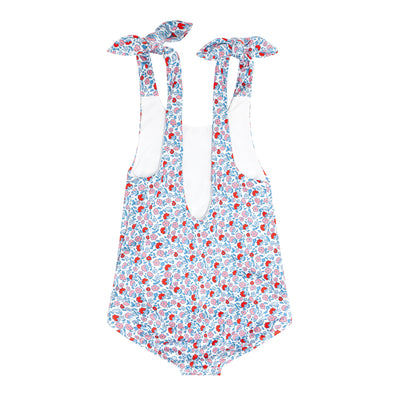 girls americana floral tie knot one piece