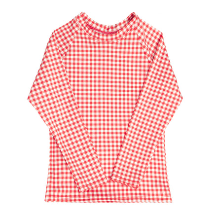 unisex red gingham rashguard