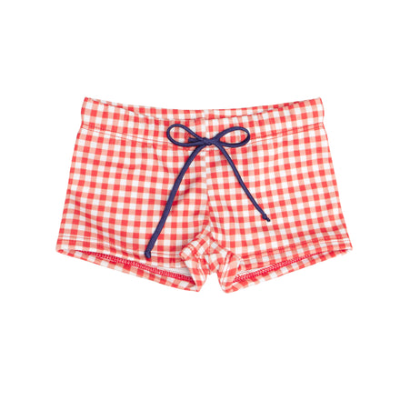 PRE-ORDER: boys red gingham brief