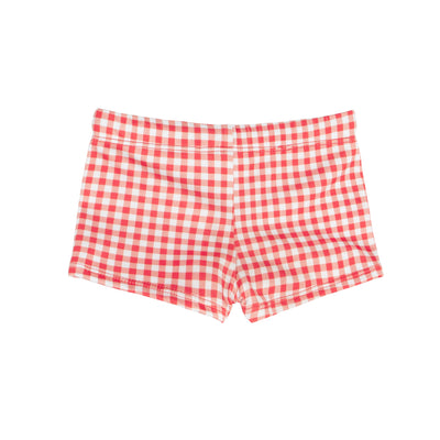 boys red gingham brief