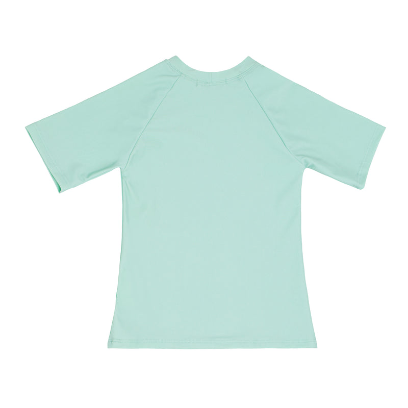 unisex mint short sleeve rashguard