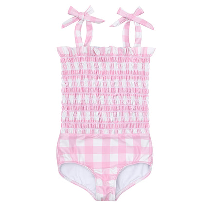 minnow x stoney clover lane watermelon gingham smocked one piece