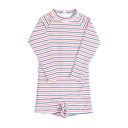 boy's mariner stripe rashguard one piece