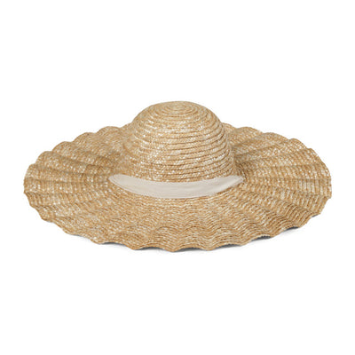 women's scalloped dolce hat