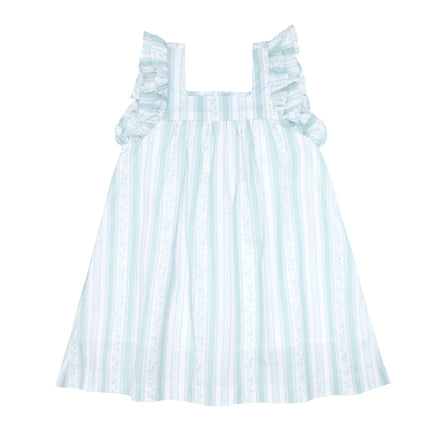 girls linear floral swing dress