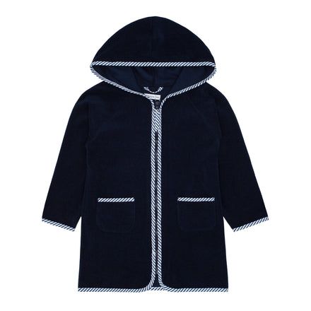 unisex navy terry hooded coverup