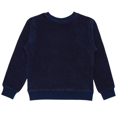 unisex navy terry sweatshirt