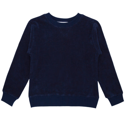 unisex navy terry sweatshirt-PRESALE
