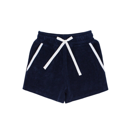 boys navy terry short