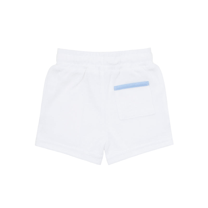 boys white french terry short