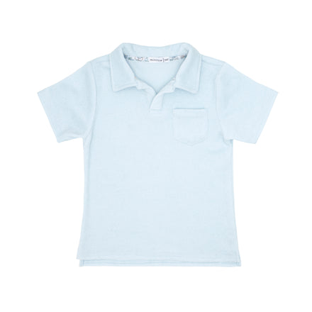 boys blue french terry polo shirt