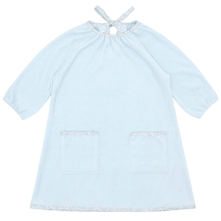 girls blue terry dress