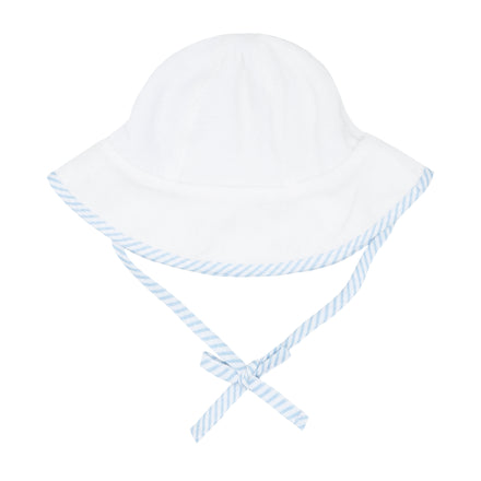 white terry sunhat