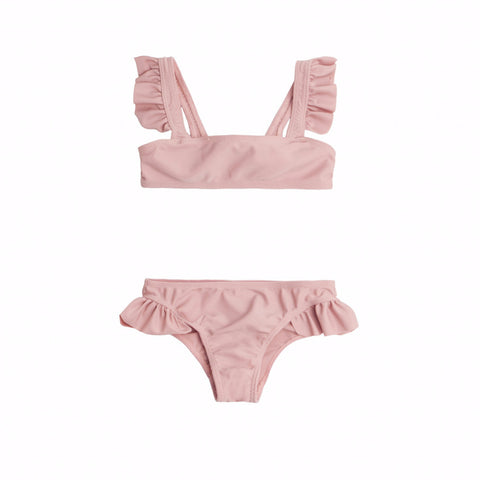 Rose Tie Back Bikini Set