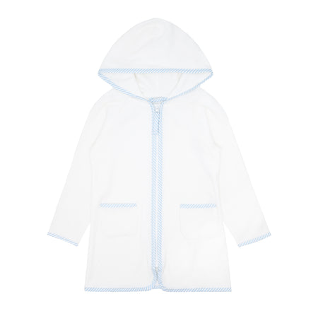 unisex white terry hooded coverup