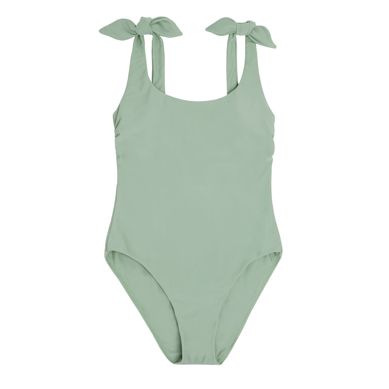 women's sage tie knot one piece