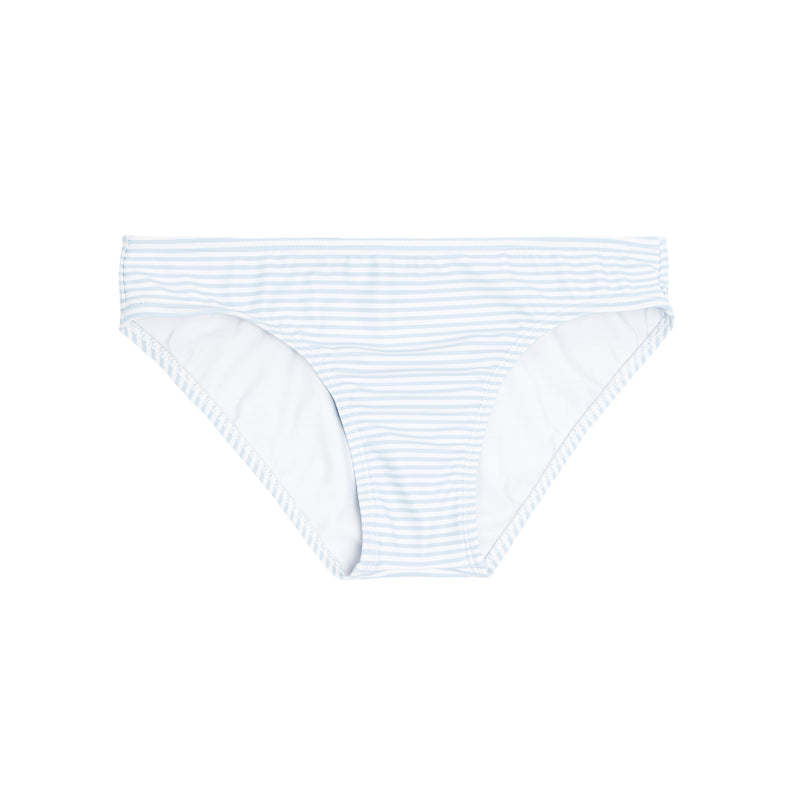 women's powder blue stripe bikini bottom