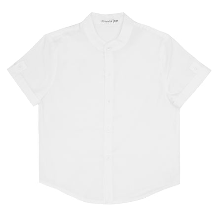 boys white button down shirt