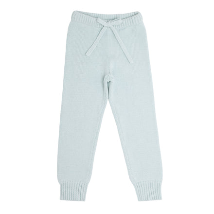 light blue knit pant