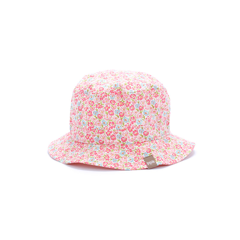kids blooming meadow bucket hat, pink