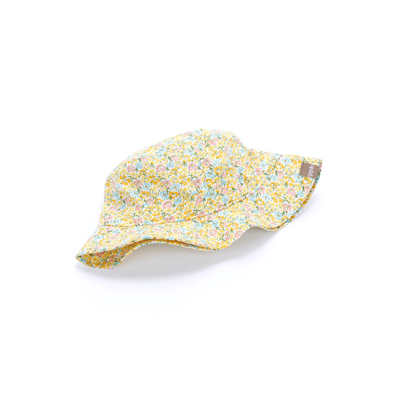 kids blooming meadow bucket hat, yellow
