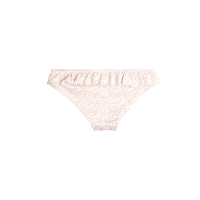 Girl's Antique Floral Bikini Bottom