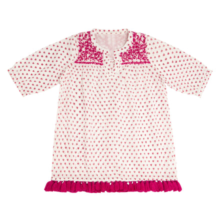 roller rabbit pink heart serafina dress