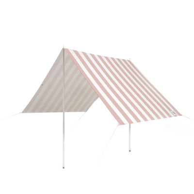 holiday beach tent, pink stripe