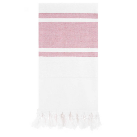 red & white stripe towel
