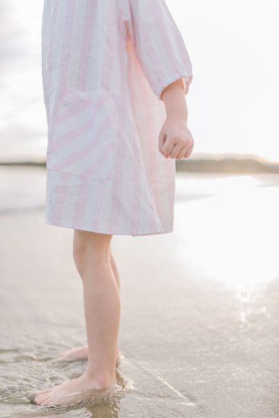 Pomelo Pink Stripe Sun Dress